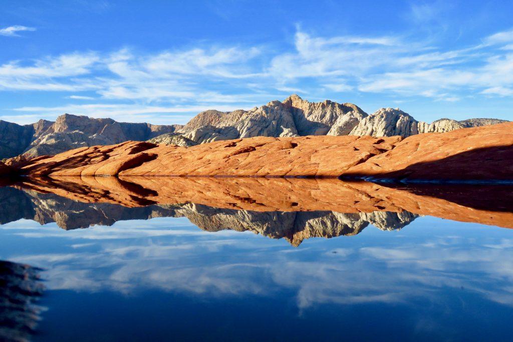 Reflection image Petrified Dunes and White Rocks